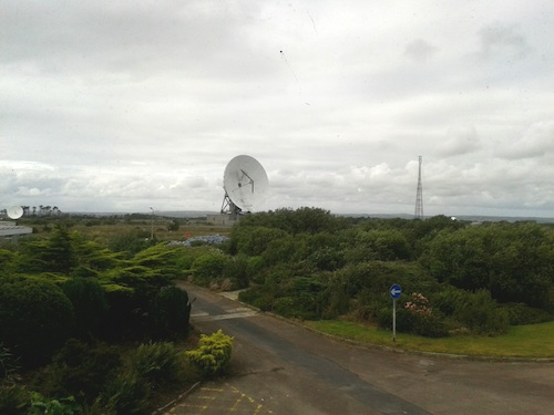 dish from tower GES